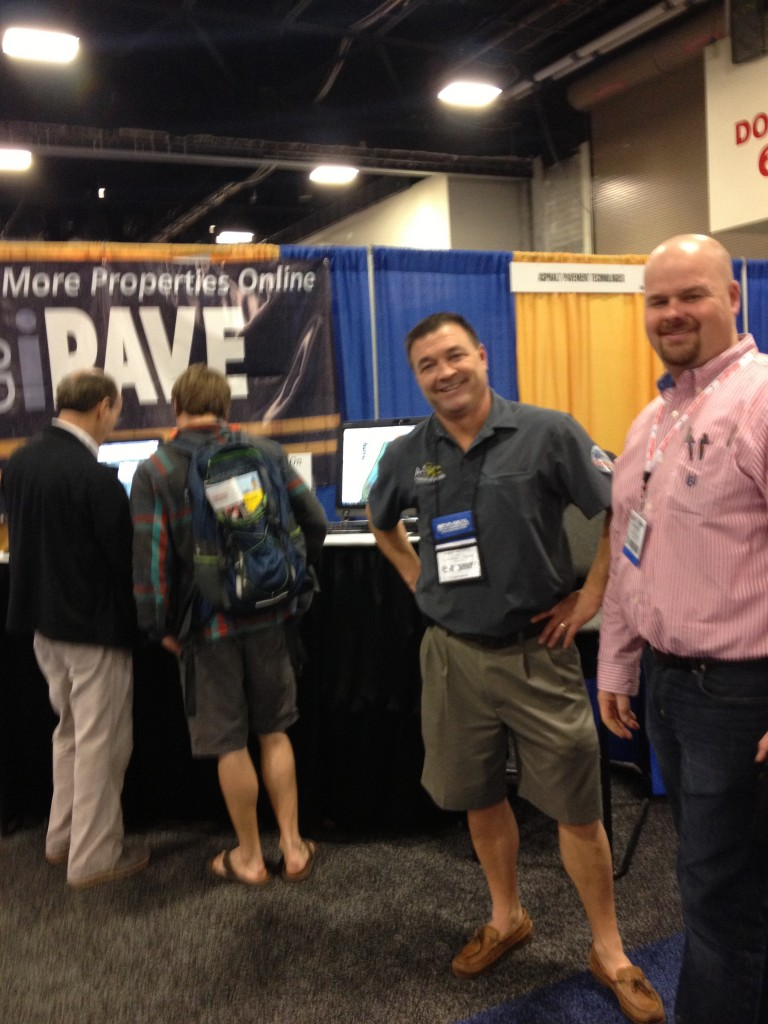 Our friends (and fellow Ohioans) Larry Weitzell and Mike Mosher stopping by the booth!