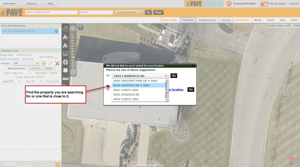Hit the arrow next to the top option and a list of addresses will appear that you can choose from.
