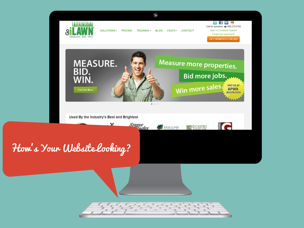 landscape and paving company website design tips