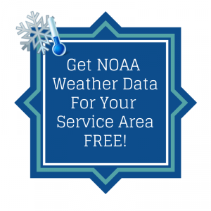 NOAA Weather Instructions White