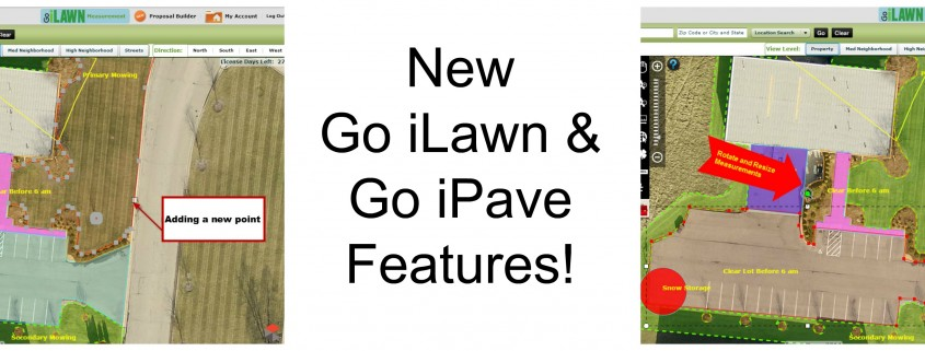New Go iLawn and Go iPave features adding points and rotate